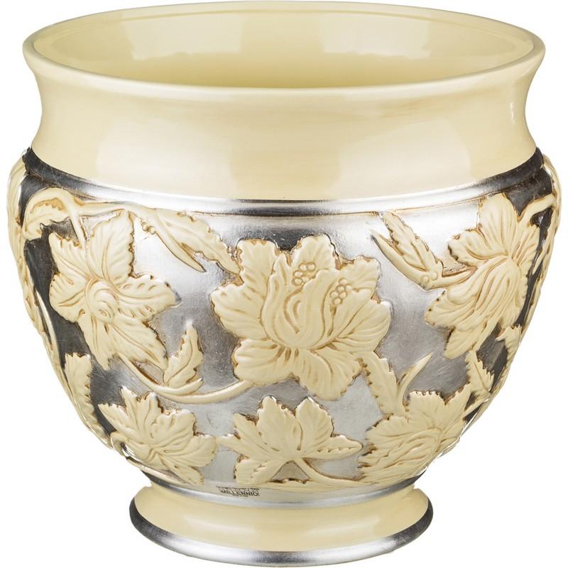 Кашпо для цветов Серебро