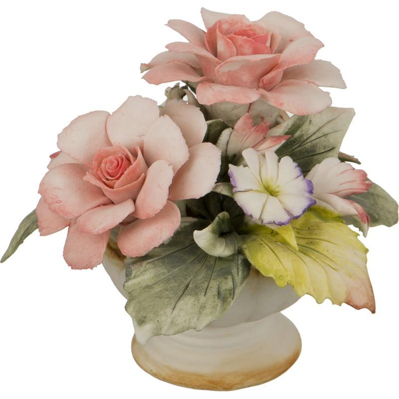 Корзина с цветами розы