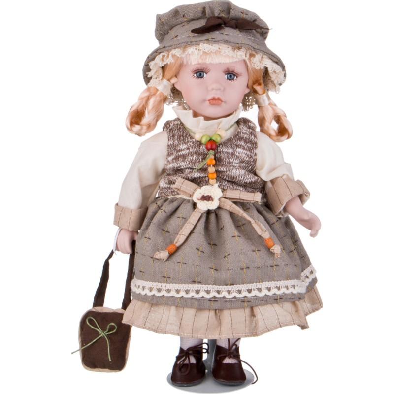 Кукла фарфоровая ДЕВОЧКА В ПАНАМКЕ