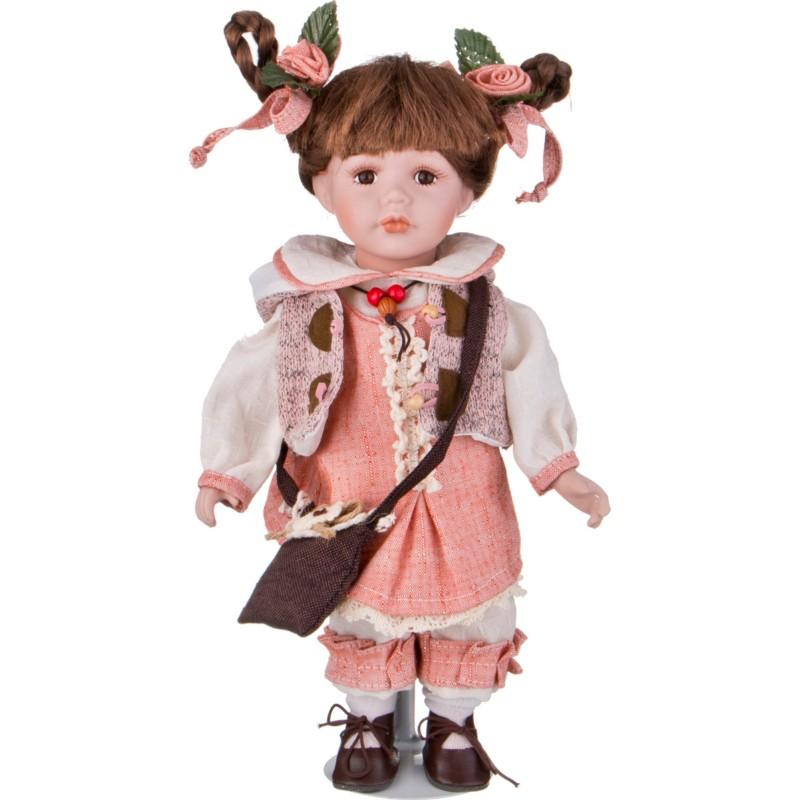 Кукла фарфоровая ДЕВОЧКА С БАНТИКАМИ