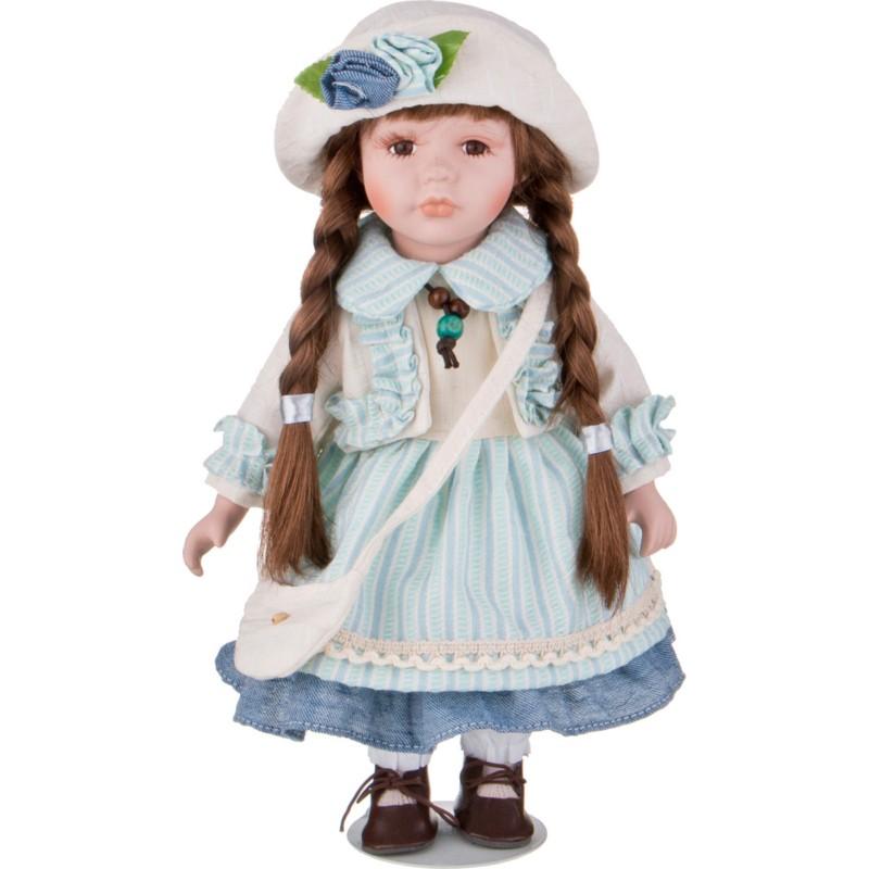 Кукла фарфоровая ДЕВОЧКА В ГОЛУБОМ