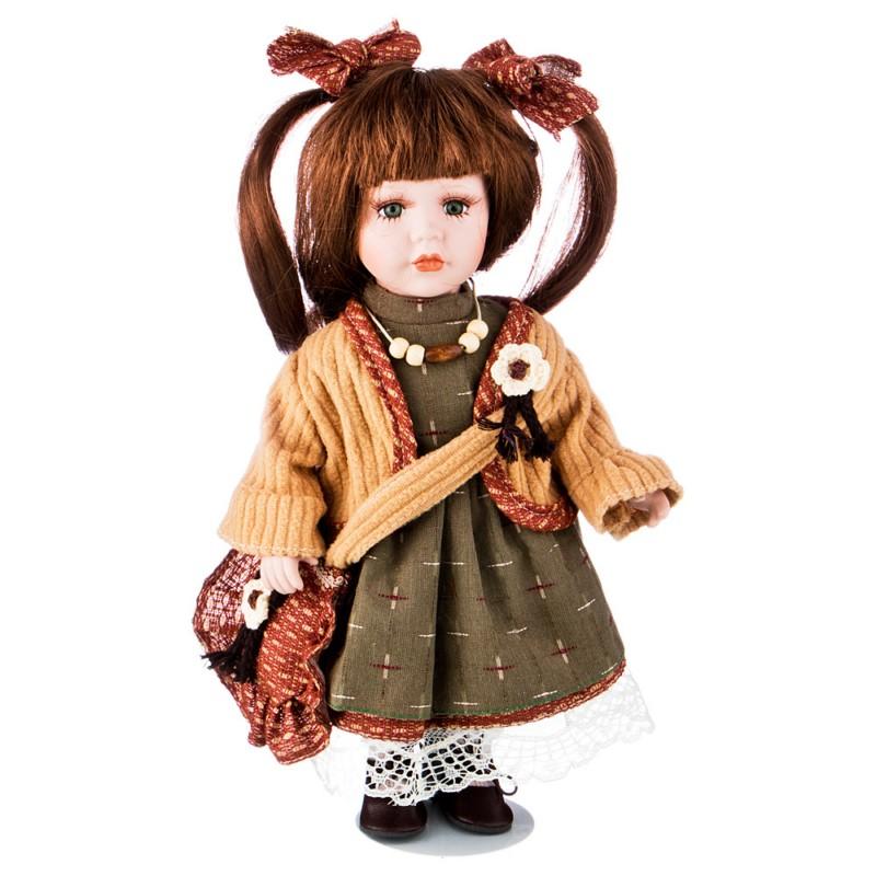 Кукла фарфоровая ДЕВОЧКА С РЫЖИМИ ВОЛОСАМИ