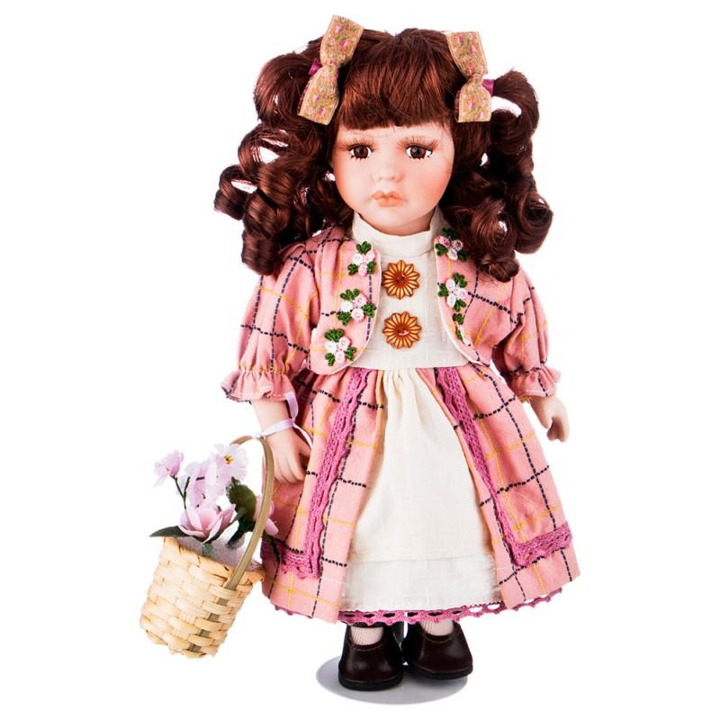 Кукла фарфоровая ДЕВОЧКА В РОЗОВОМ