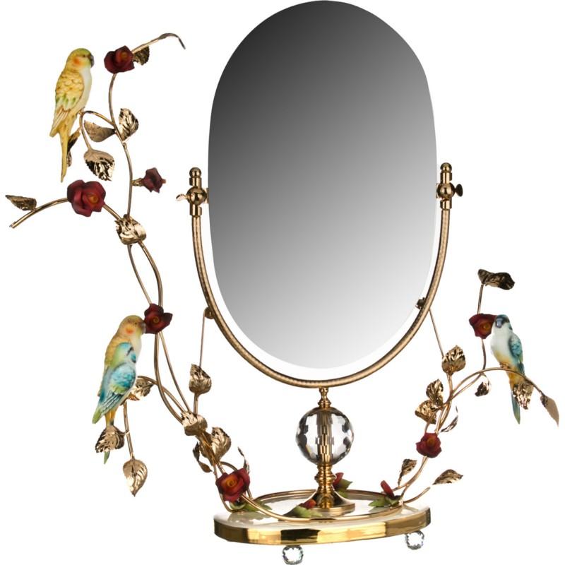 Зеркало настольное ПОПУГАИ